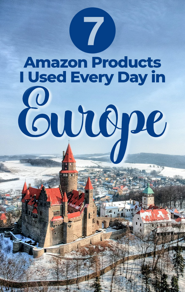 The Best Amazon Products for Europe Travel - Based on An Actual Expert Travel Blogger's Own Packing List.  See what to buy before you go, what to buy when you're in Europe, and what to leave at home.