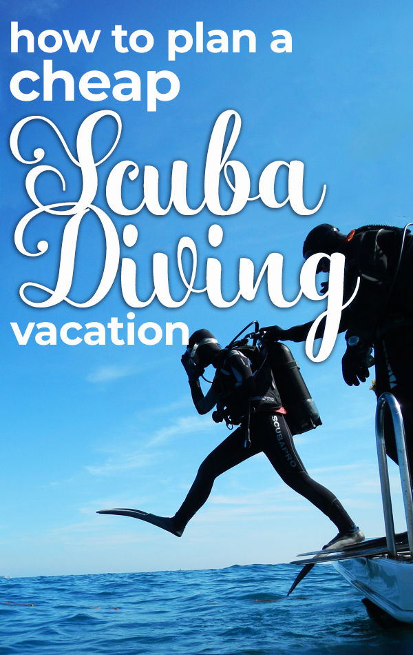 How to plan a cheap scuba diving vacation!  Start by choosing the best (and safest!) cheap scuba diving destination, then find the perfect dive shop and the most affordable hotel or hostel in your tropical paradise.