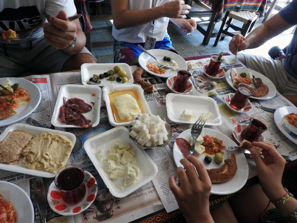 A Traditional Turkish Breakfast on an Istanbul Food Tour