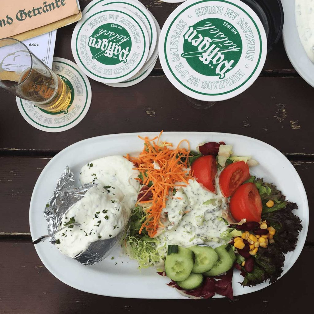 Vegetarians in Germany Can Always Find a Good Salad and Baked Potato