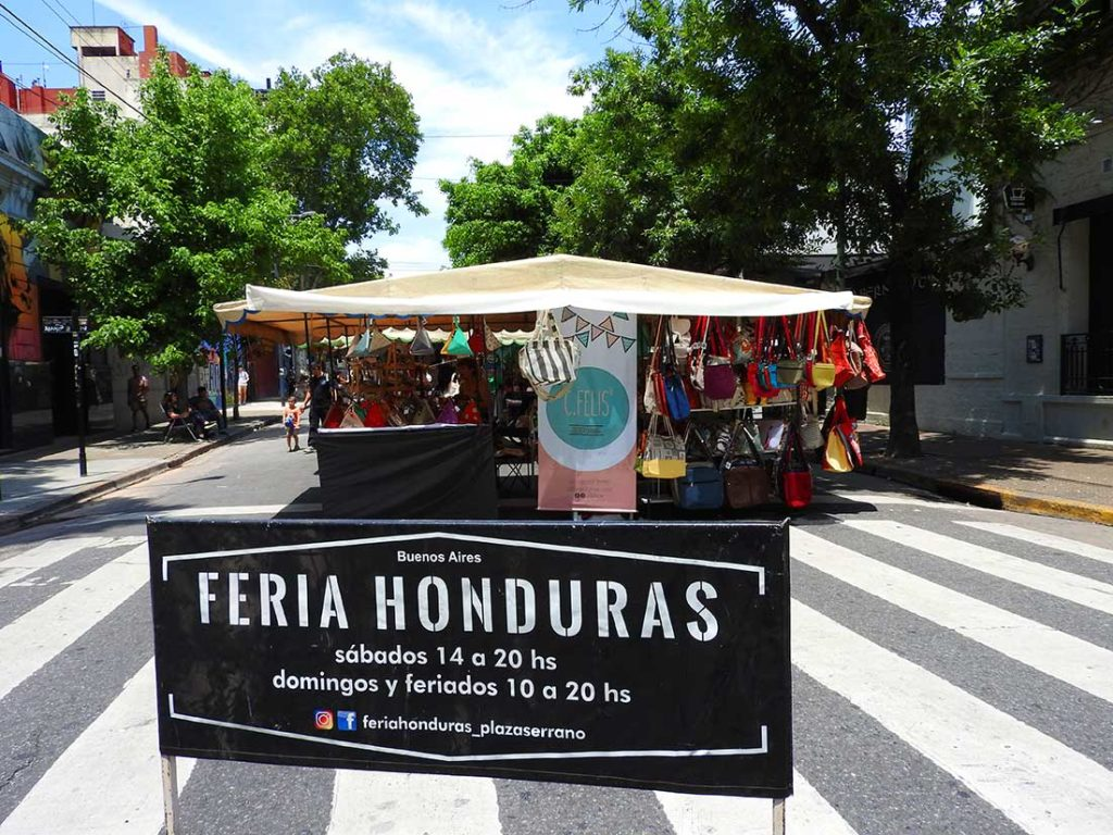 Feria Honduras on the Weekened in Palermo, Buenos Aires