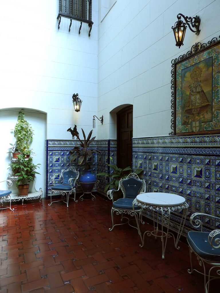 Elegant Courtyard in the Museo Evita in Palermo, Buenos Aires