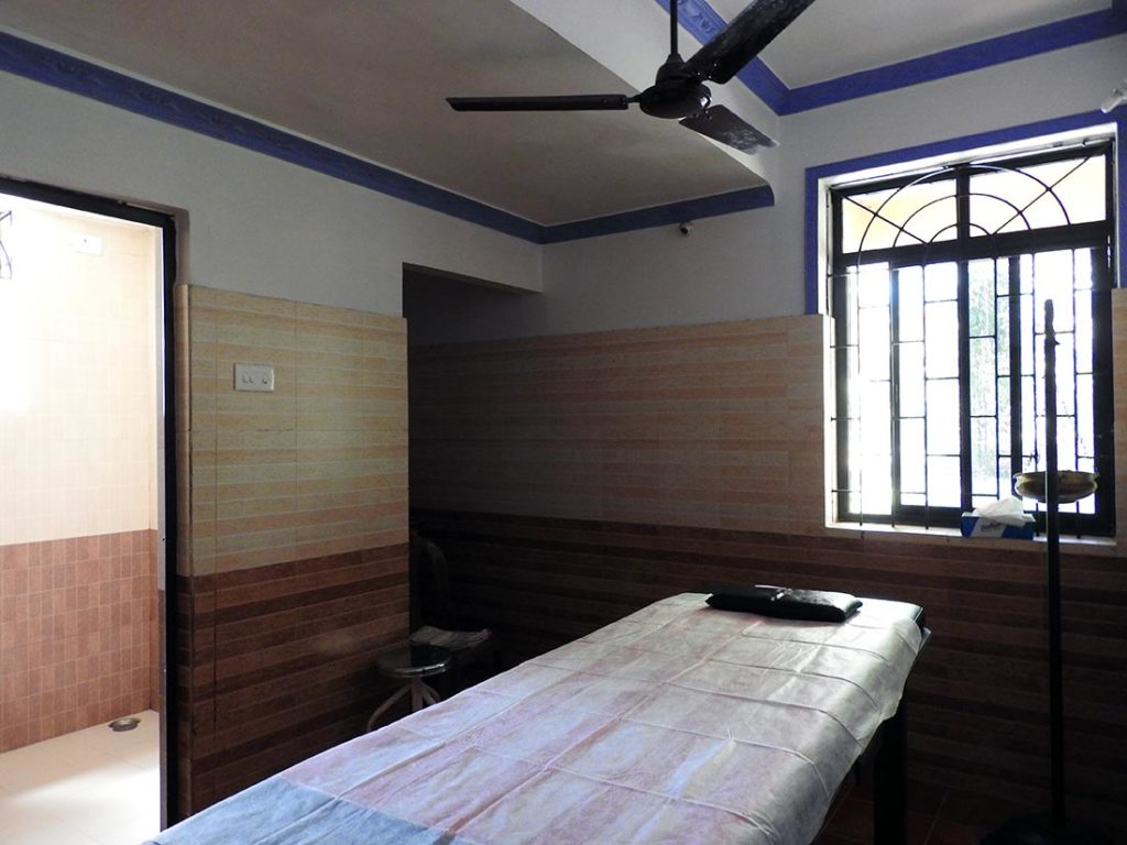 Ayurveda Treatment Room at an Indian Yoga Retreat