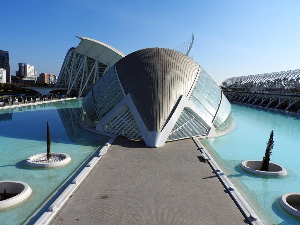 City of Arts and Sciences by Santiago Calatrava in Valencia, Spain