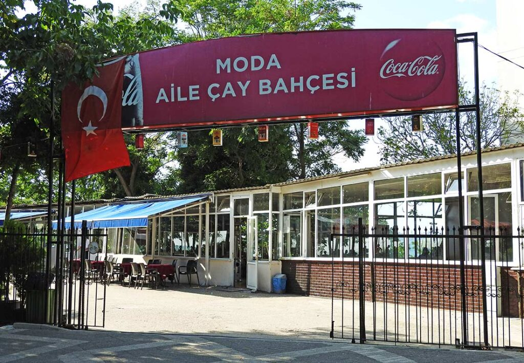 The Moda Tea Garden in Kadikoy Istanbul