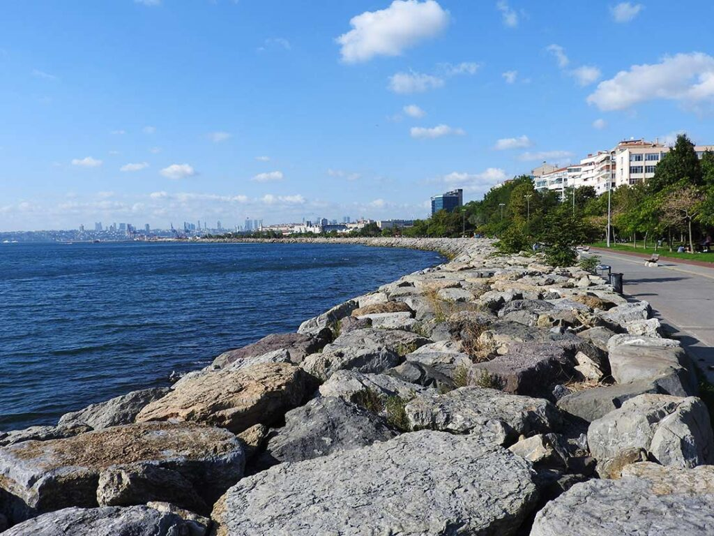 Waterfront Walking Path in Kadikoy Istanbul