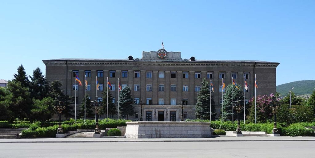 Government Buildings in Stepanakert, Republic of Artsakh
