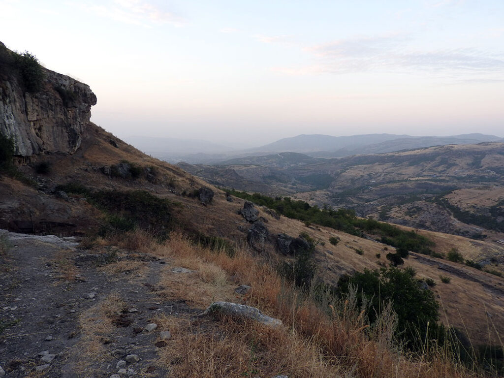 Landscape Behind Saro's Guesthouse in Shushi, Artsakh