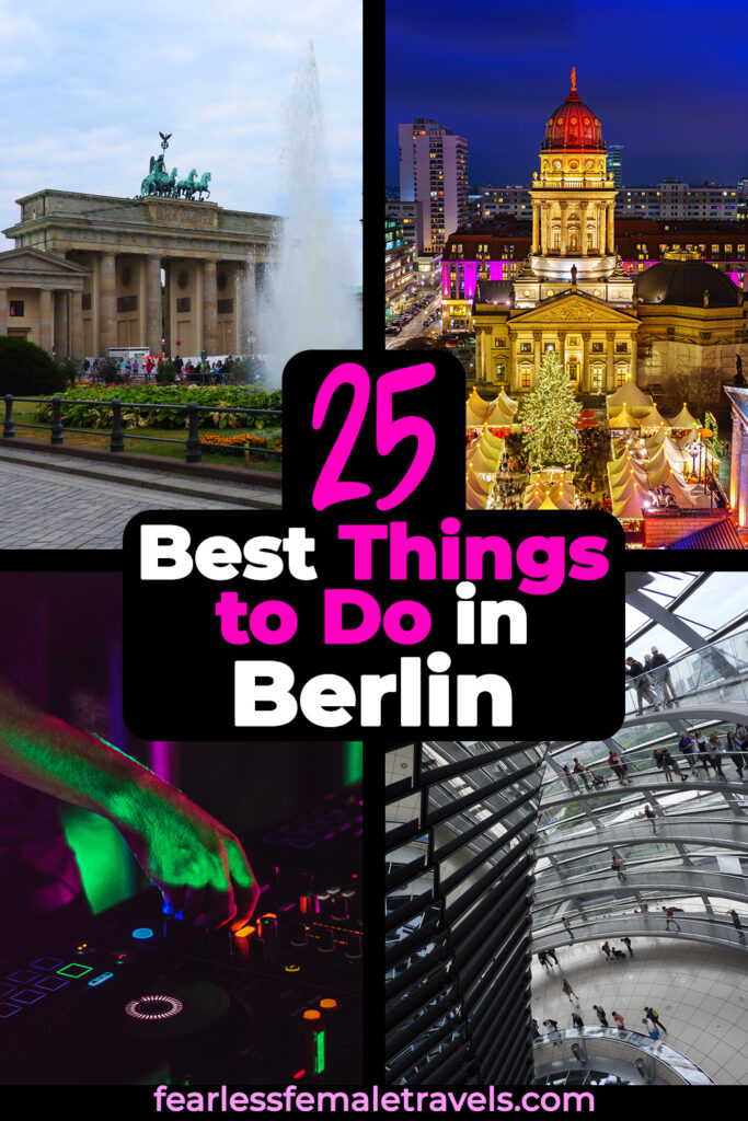 25 Best Things to Do in Berlin Germany - From historical monuments to all-night parties, from classical art to modern architecture, and from the shores of the Spree to the top of the Reichstag Dome!