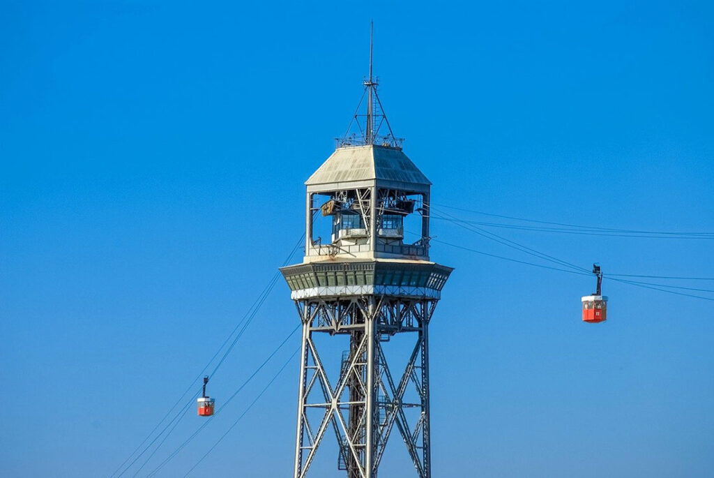 Cable Car in Barcelona Port Vell
