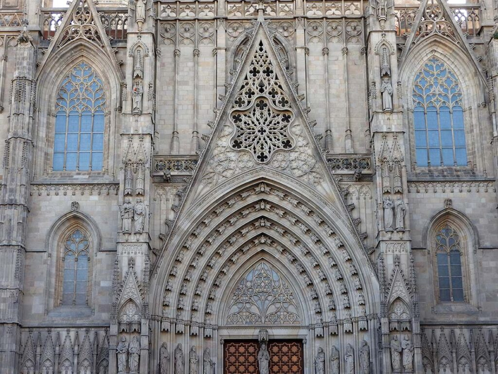 The Barcelona Cathedral in the Barri Gotic