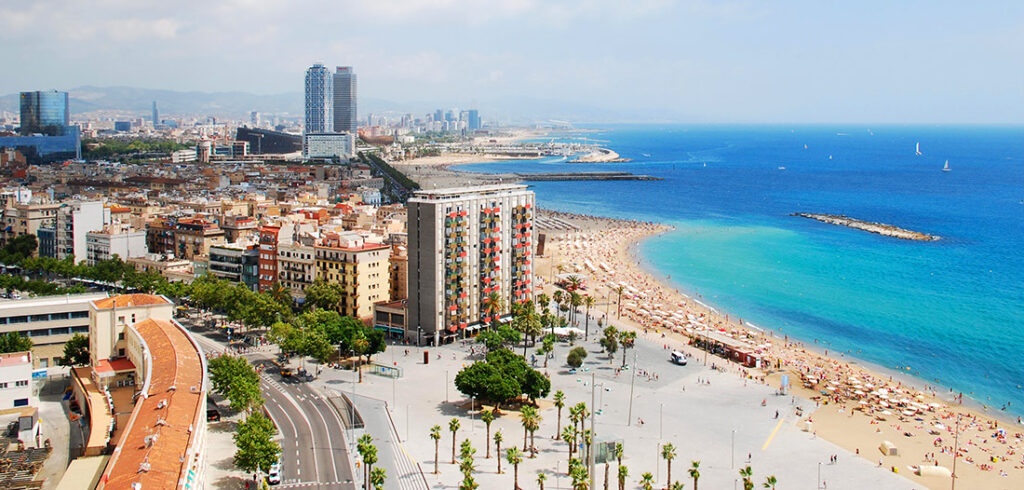 Barceloneta Beach in the Heart of Barcelona Spain
