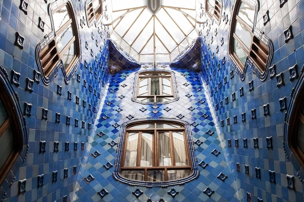 Interior of Casa Batllo on Passeig de Gracia in Barcelona