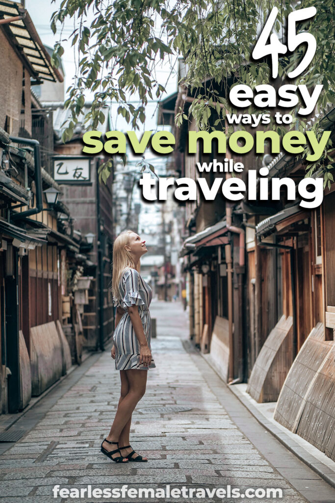 45 Easy Ways to Save Money on Travel - You won't notice the difference during your trip, but your wallet will! Includes tips to save money on accommodation, transportation, sightseeing and food during your trip!