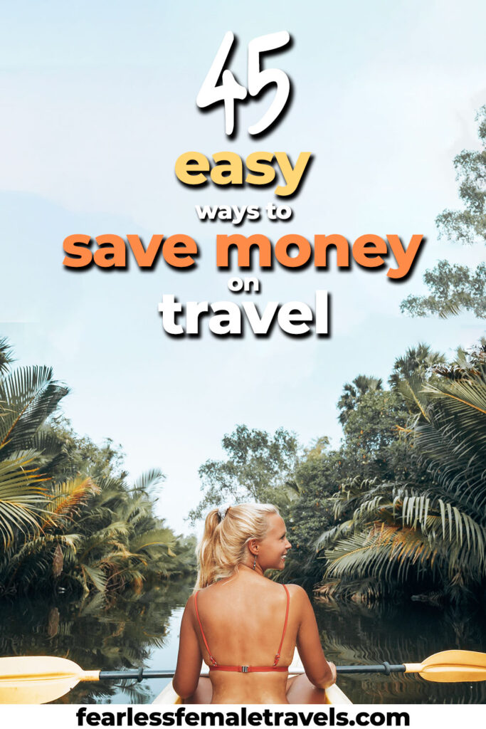 45 Easy Ways to Save Money on Travel - You won't notice the difference during your trip, but your wallet will! Includes tips to save money on sightseeing, accommodation, transportation and gear!