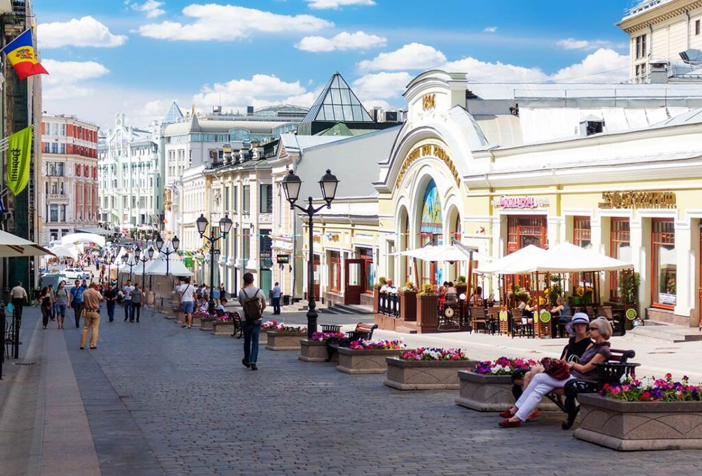 Kuznetsky Most Street in Moscow Russia