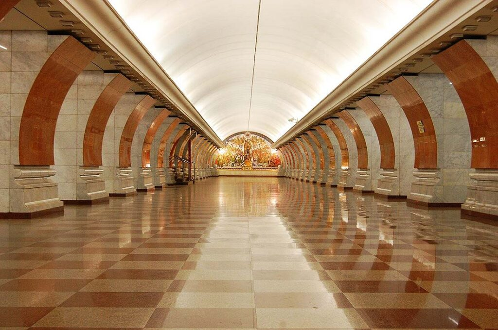Beautiful Metro Station in Moscow