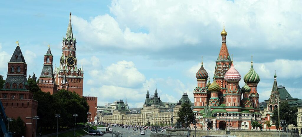 The Red Square in Moscow Russia