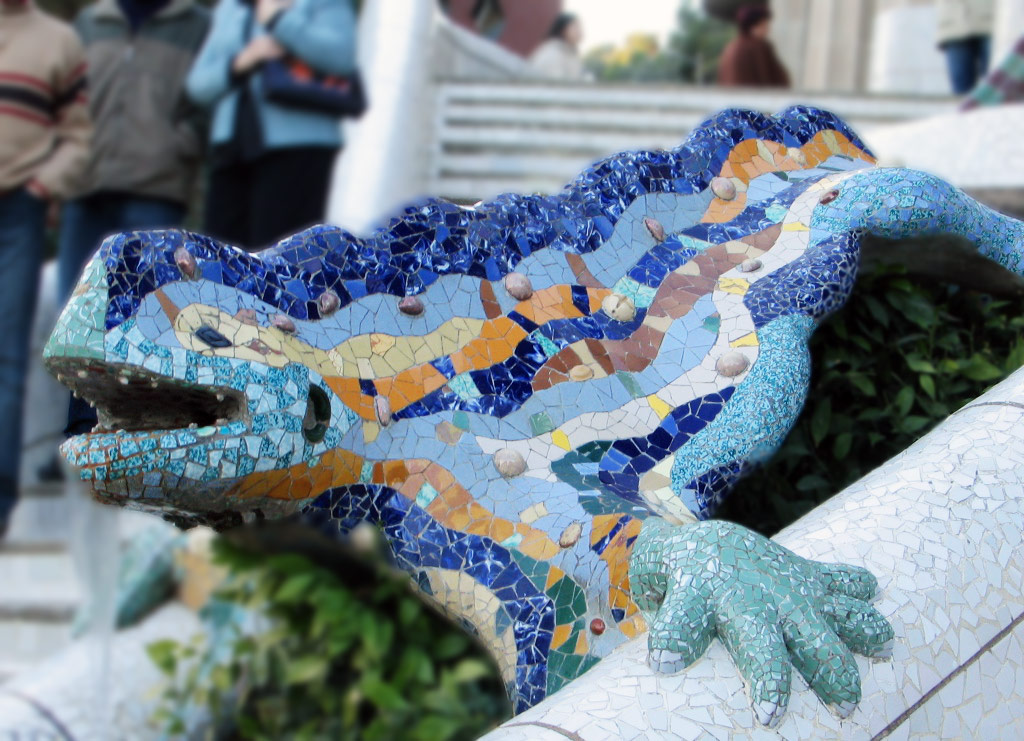 Parc Guell Lizard by Antoni Gaudi in Barcelona Spain