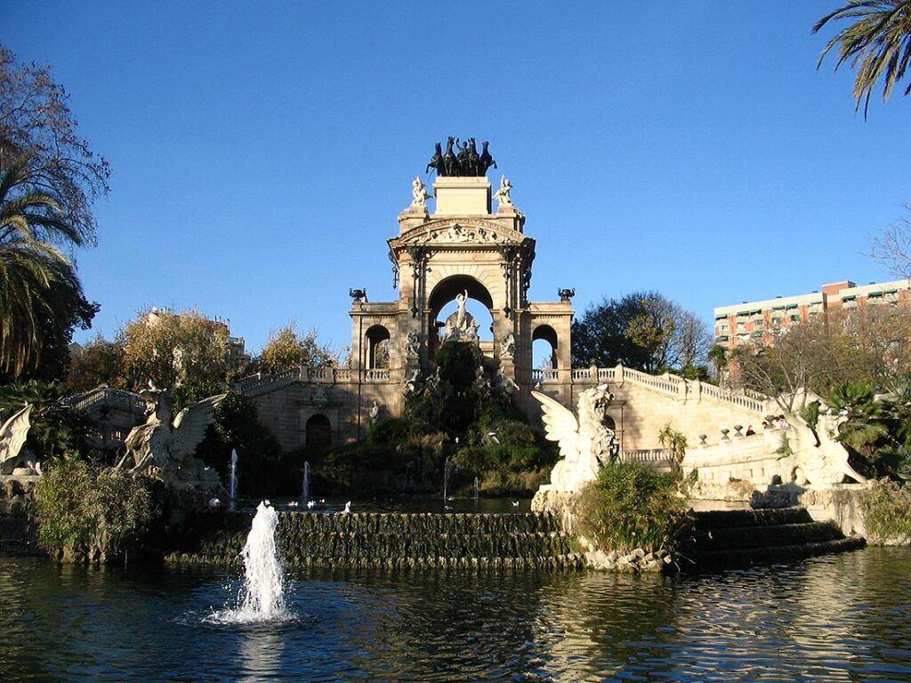 Fountain in the Parc de la Ciutadella Barcelona Spain