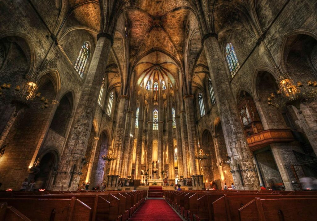 Santa Maria del Mar in Barcelona Spain's Barri Gotic
