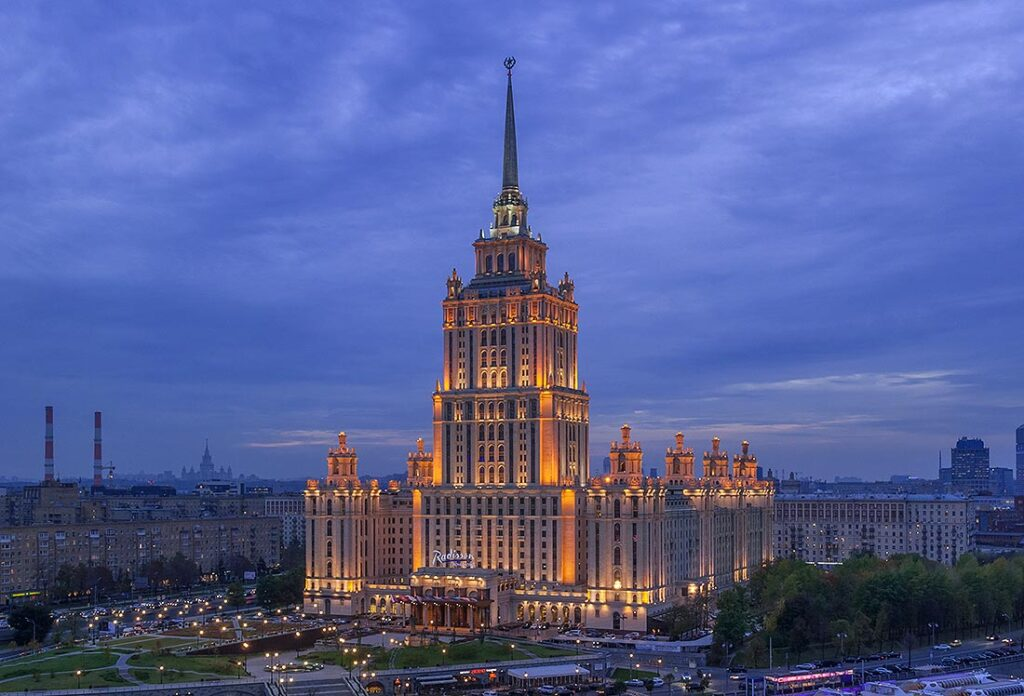 The Seven Sisters Architecture in Moscow Russia