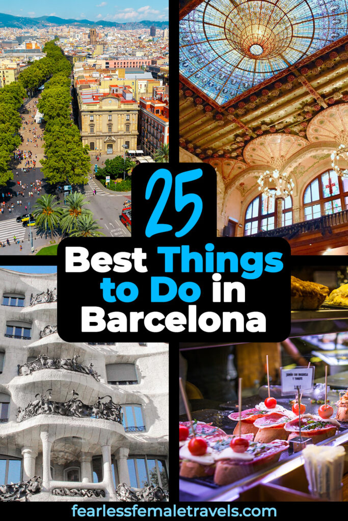 The best things to do in Barcelona, Spain, from tasting tapas to being awed by modernist architecture!
