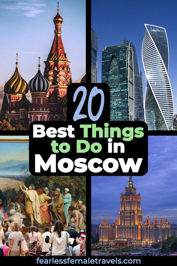 The 20 Best Things to do in Moscow Russia. Including solo travel tips for the Red Square, Russian banya, Moscow river cruises and other top attrations in Moskva!