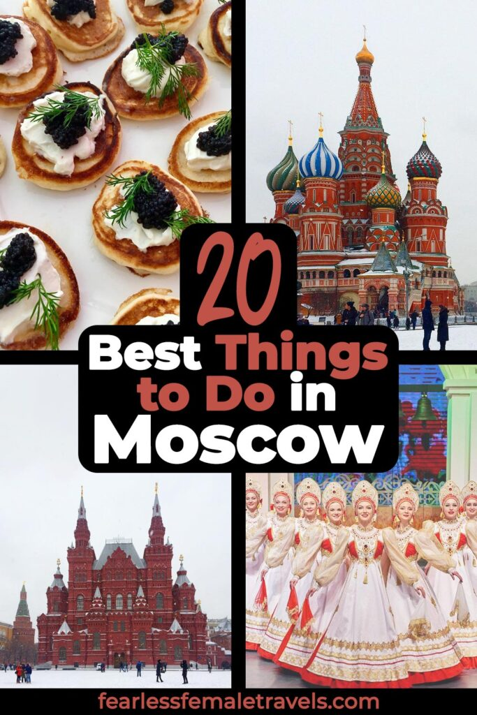 The 20 Best Things to Do in Moscow Russia - Includes traditional Russian food, luxury travel in Moscow, budget travel in Moscow, the Red Square, shopping, a Bolshoi Theater performance and more!