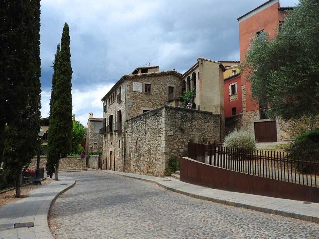 Old Buildings in the Ciutat Vell of Girona, Spain on a Day Trip from Barcelona
