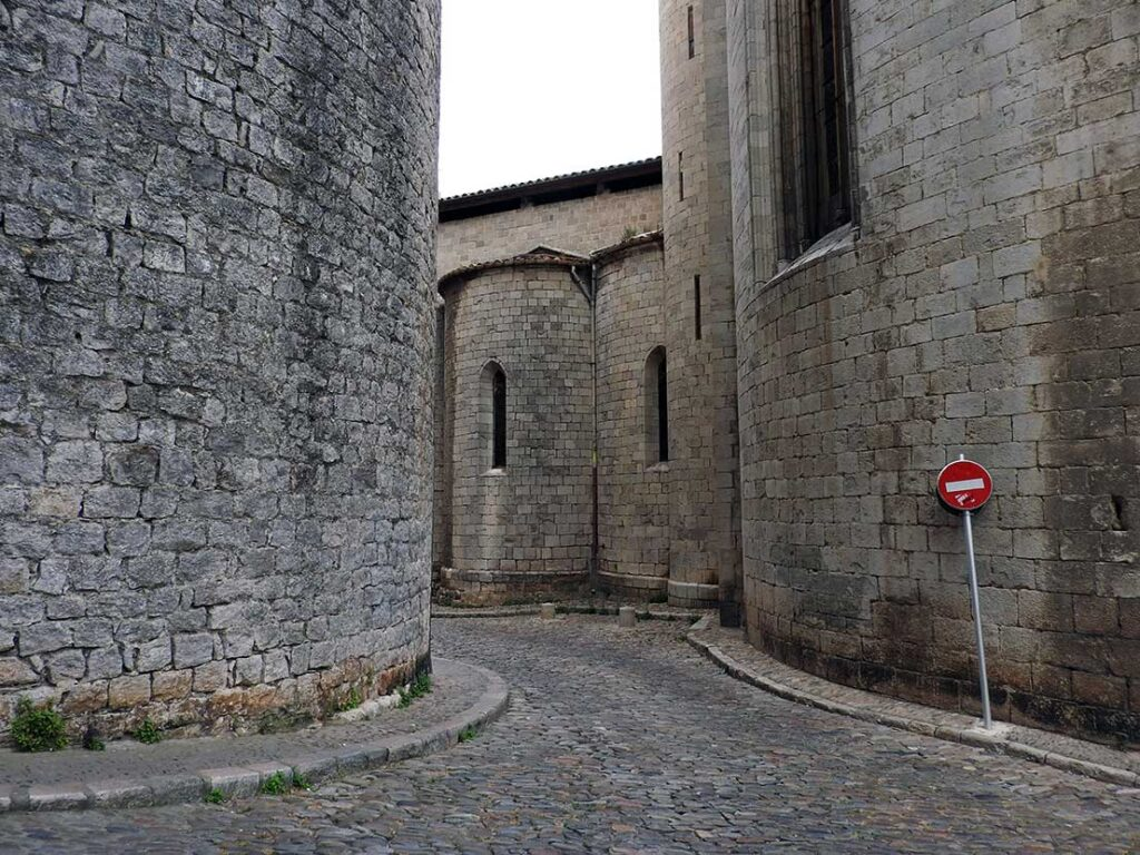 Exploring the historic center on a day trip from Barcelona to Girona Spain