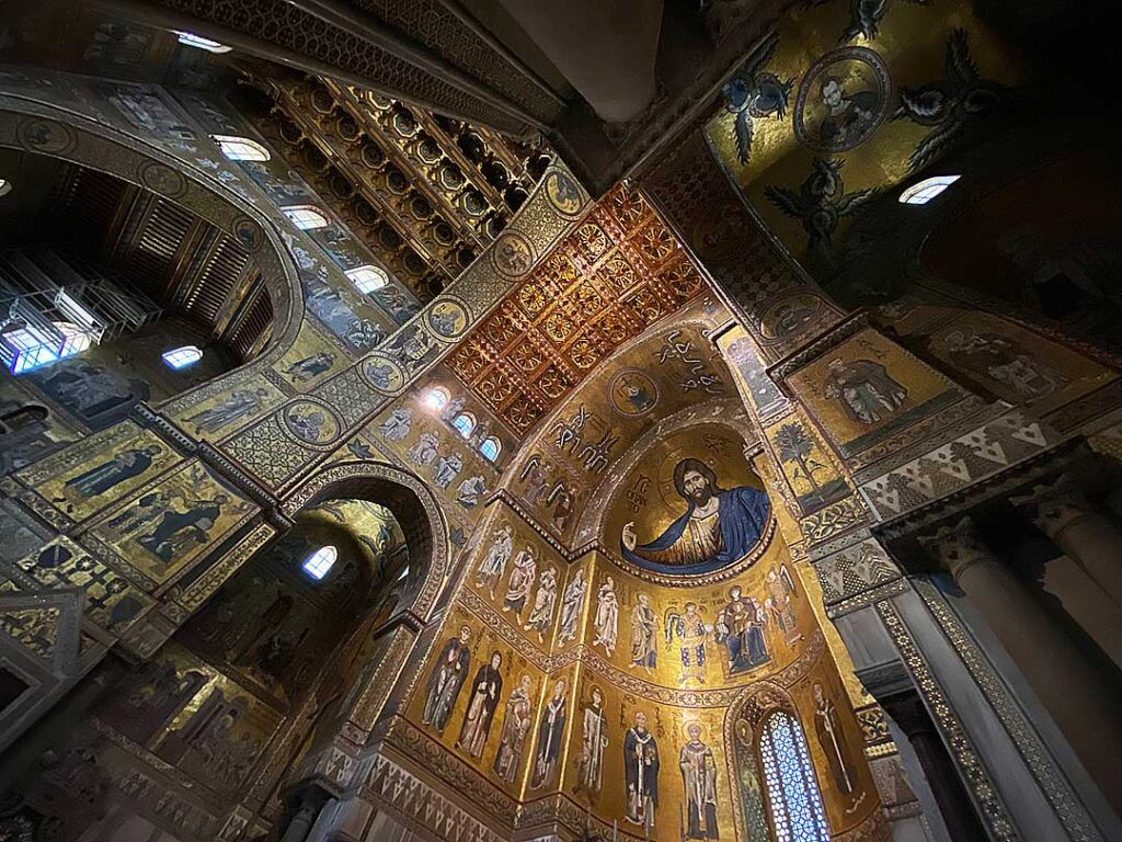 Mosaics in the Cathedral of Monreale, a Day Trip by Bus from Palermo