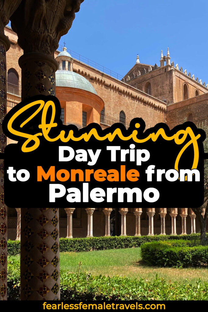 Take a stunning day trip from Palermo to Monreale by bus, to see the UNESCO World Heritage Site in the hills of Sicily, Italy.