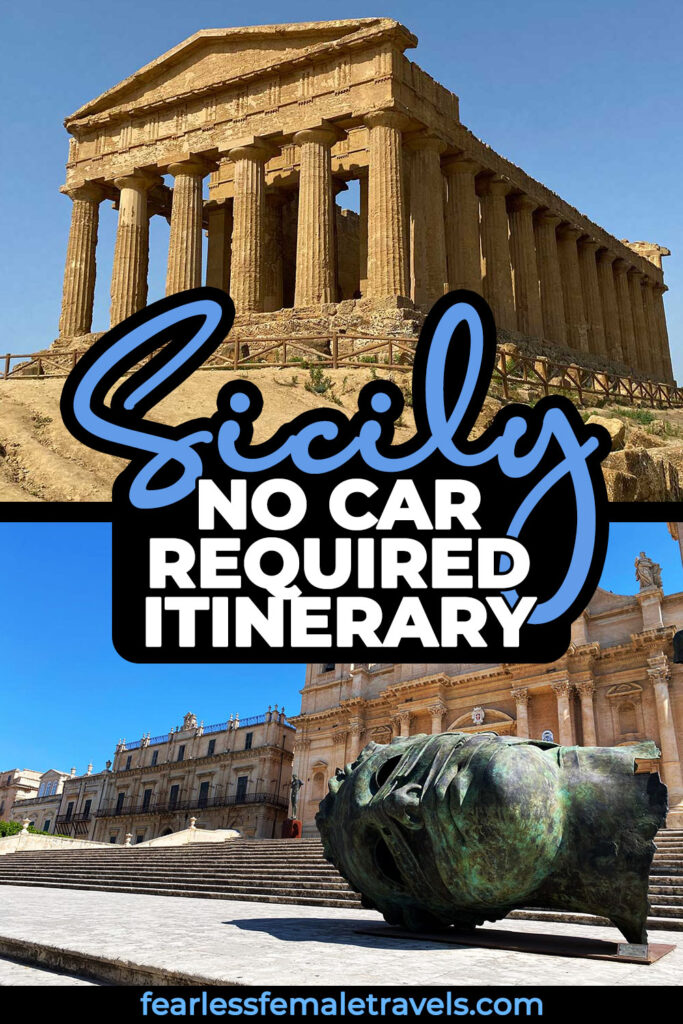 A complete Sicily travel itinerary with no car hire or rental car required. See Palermo, the Valley of the Temples, beautiful beaches and historic medieval towns using easy public transportation connections.