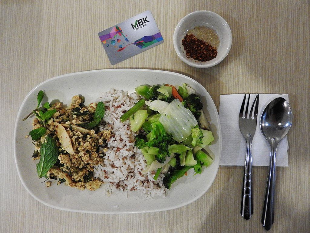 Eating Vegan at Bangkok Food Courts- MBK Food Island