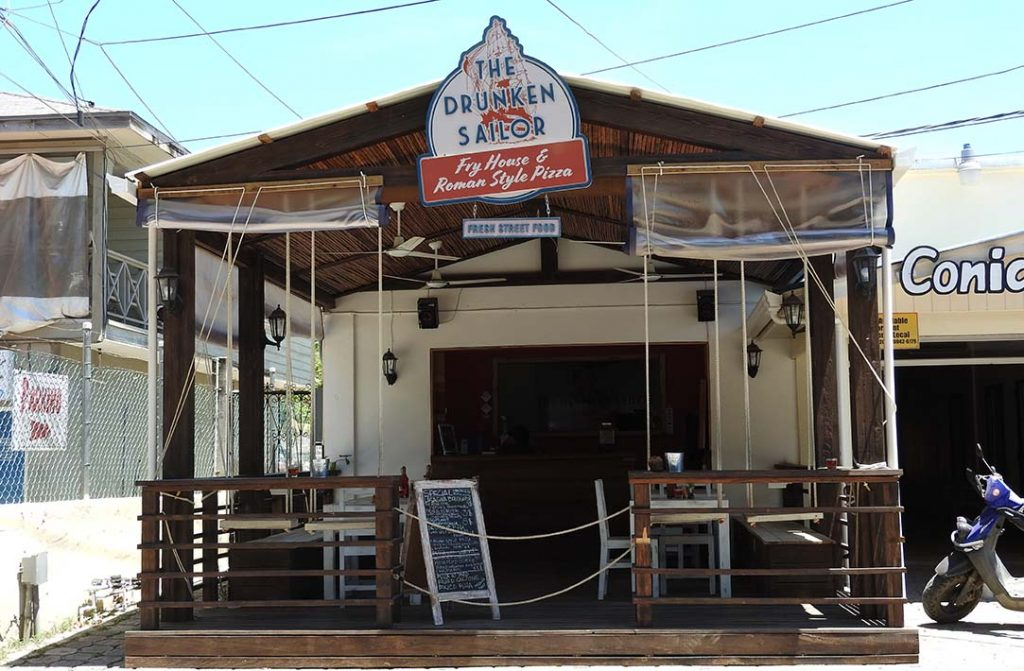 The Drunken Sailor in West End Roatan (Italian Pizza Restaurant)
