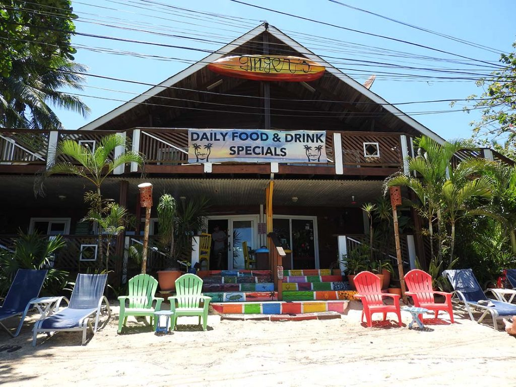 Gingers Restaurant in West End Roatan