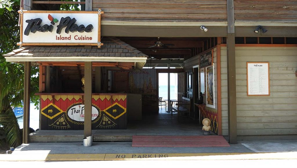 The Thai Place Restaurant in West End Roatan