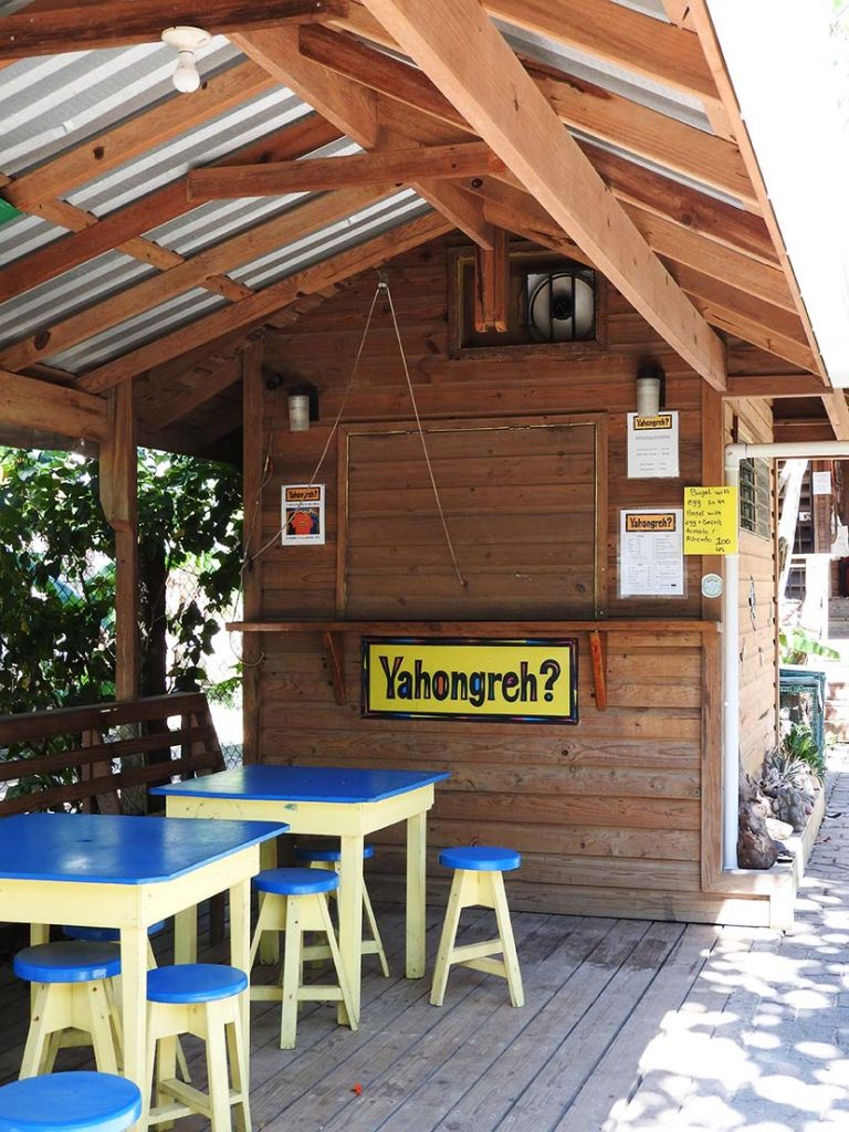 Yahongrey Street Food Restaurant in Roatan Honduras (West End)