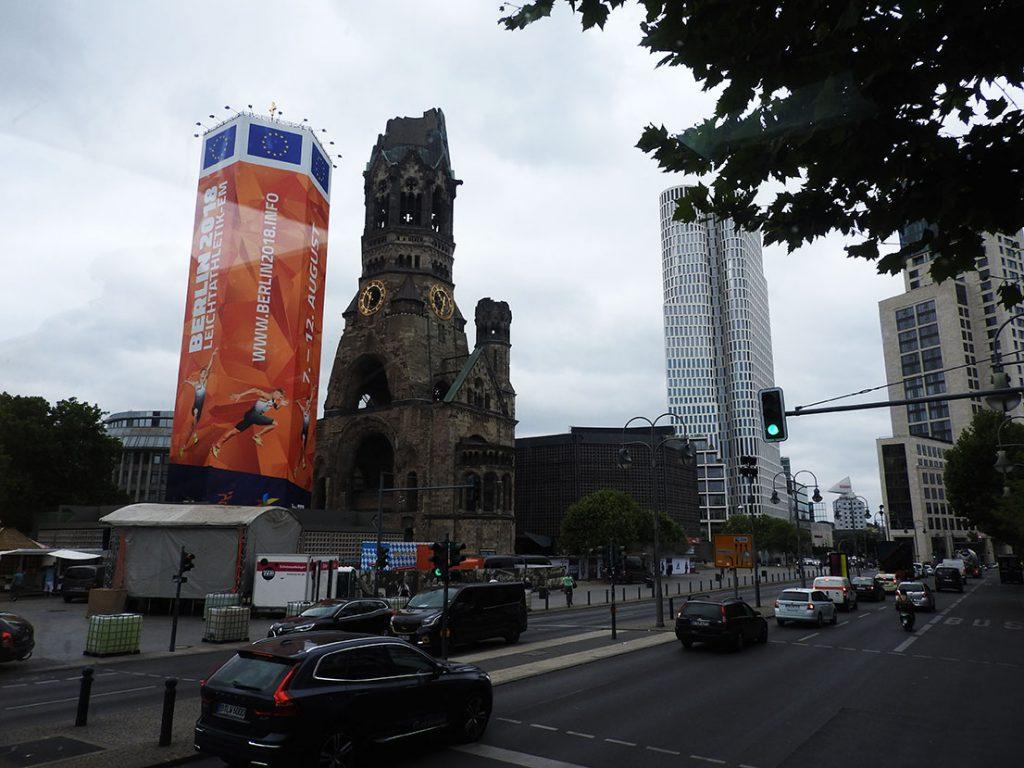 Kaiser Wilhelm Memorial Church - Riding Berlin Sightseeing Bus #100