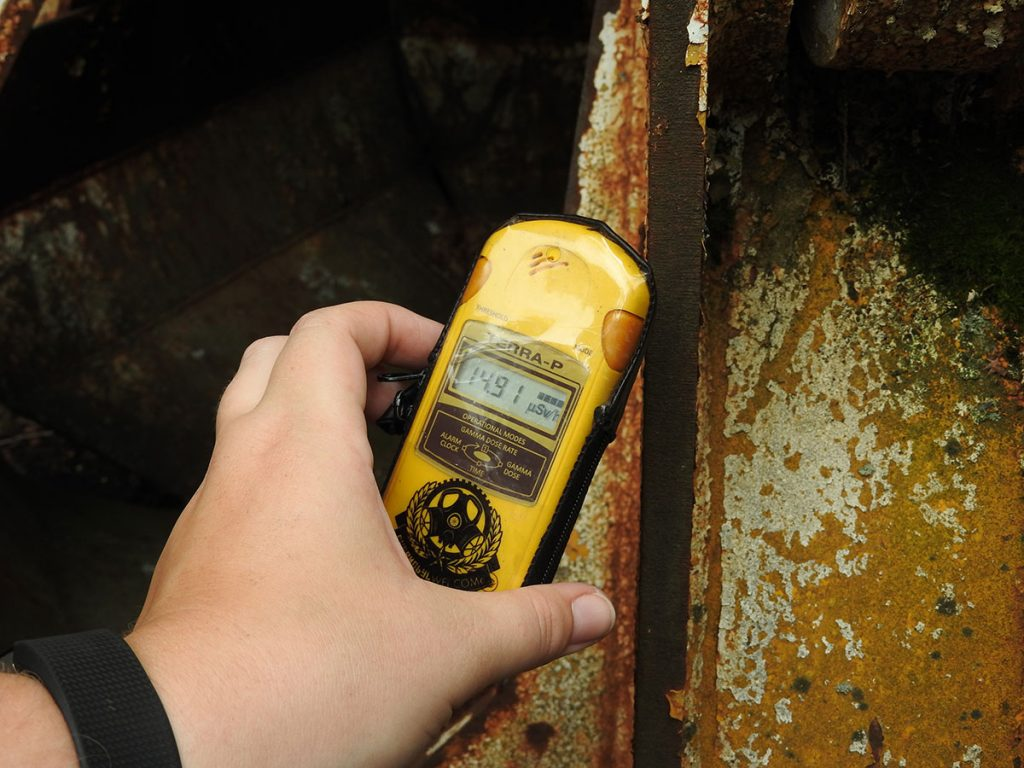 Geiger Counter on a Chernobyl Tour