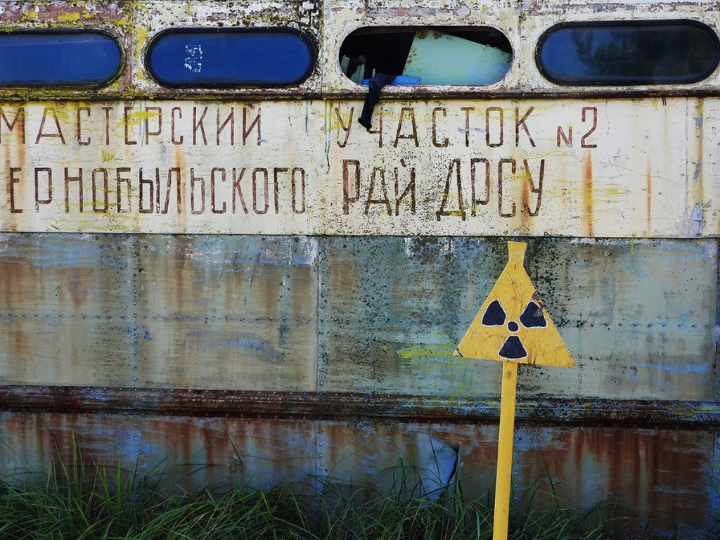 Abandoned Buses in Kopachi Village, Chernobyl