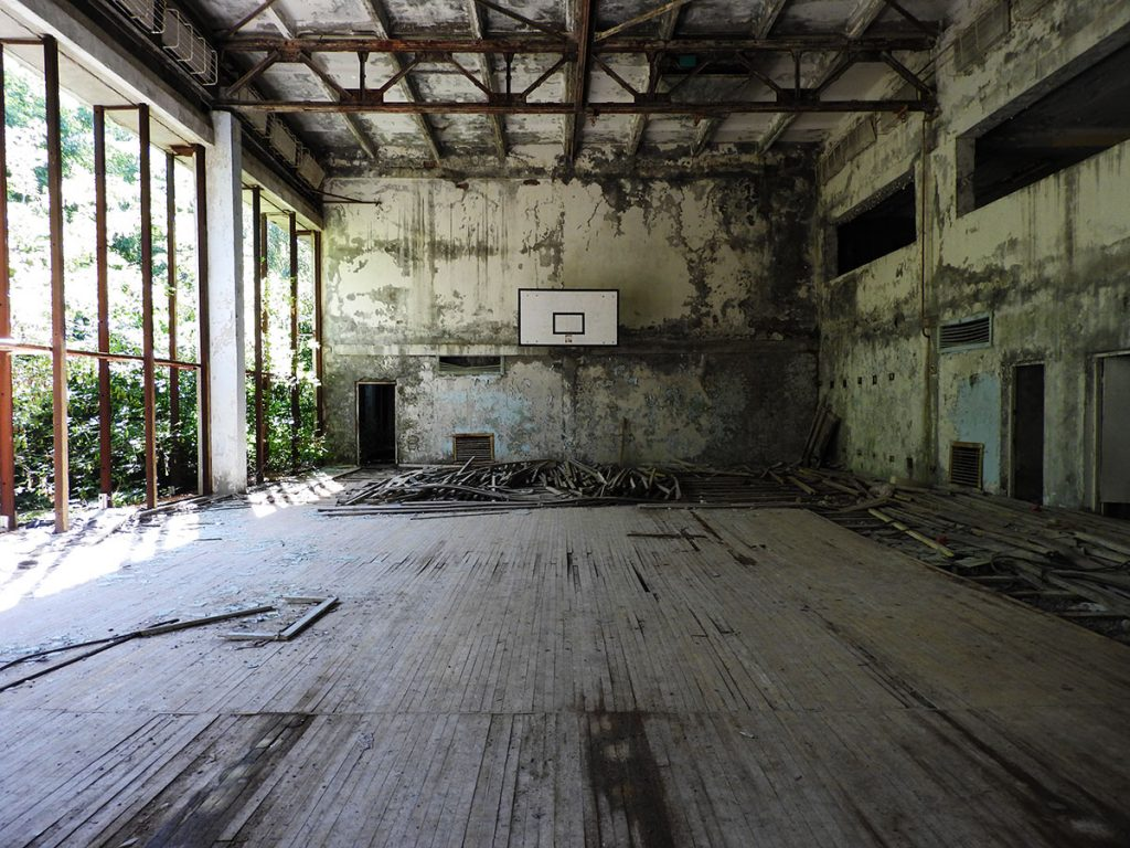 Basketball Court in Pripyat, Chernobyl