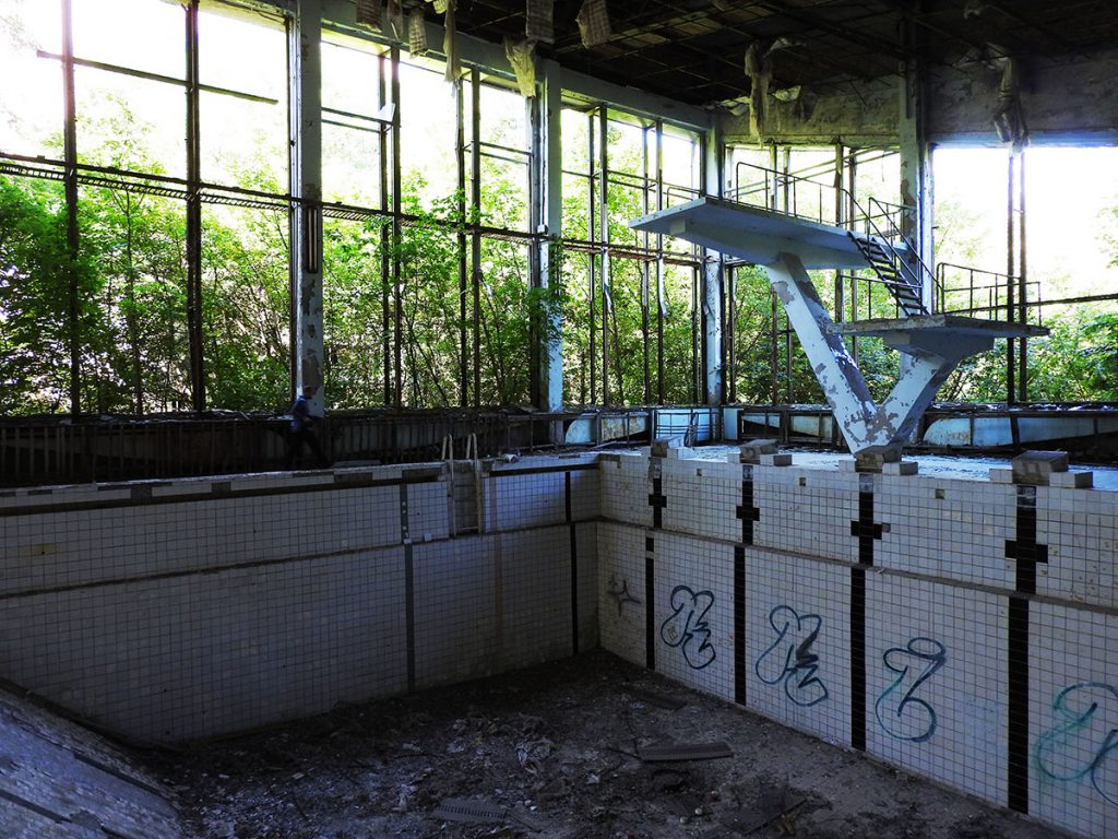Pripyat Swimming Pool - Ukraine Chernobyl Tour