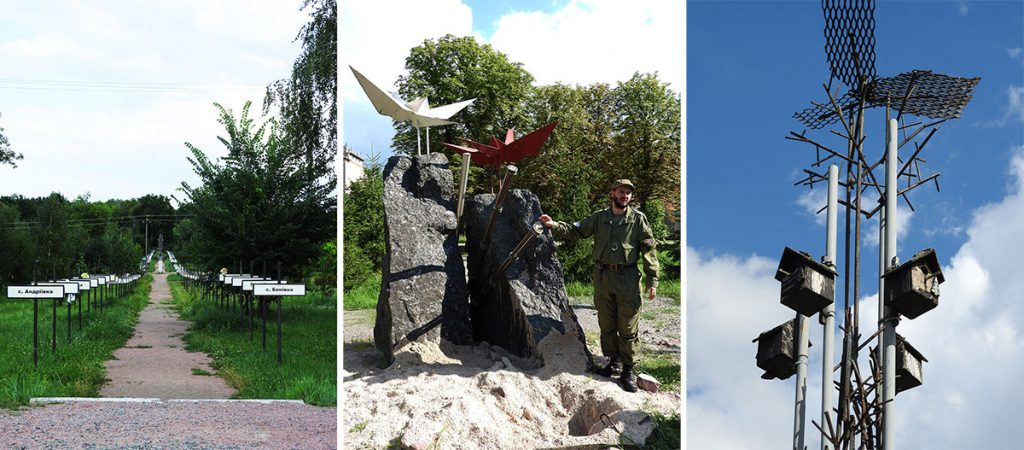 Memorials and Monuments in Chernobyl Town