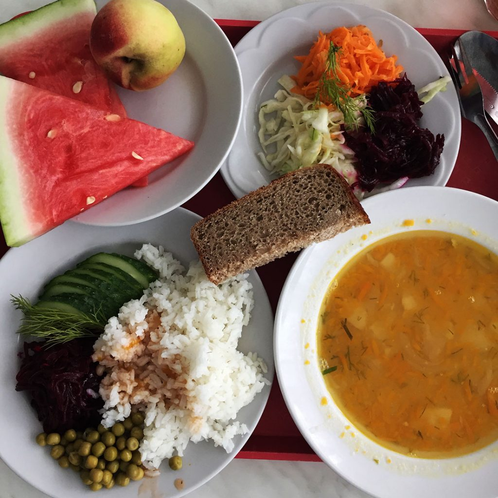 Vegetarian Lunch at the Chernobyl Workers' Cafeteria