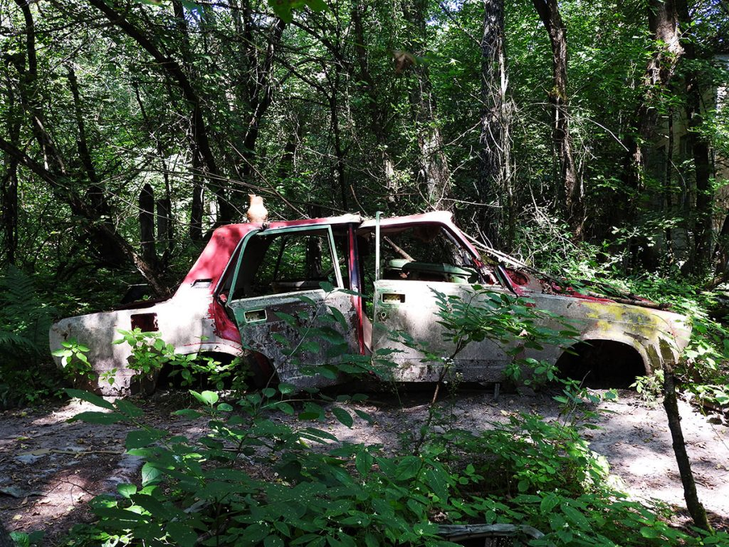Abandoned Cars in Zalesye Village - Chernobyl Exclusion Zone