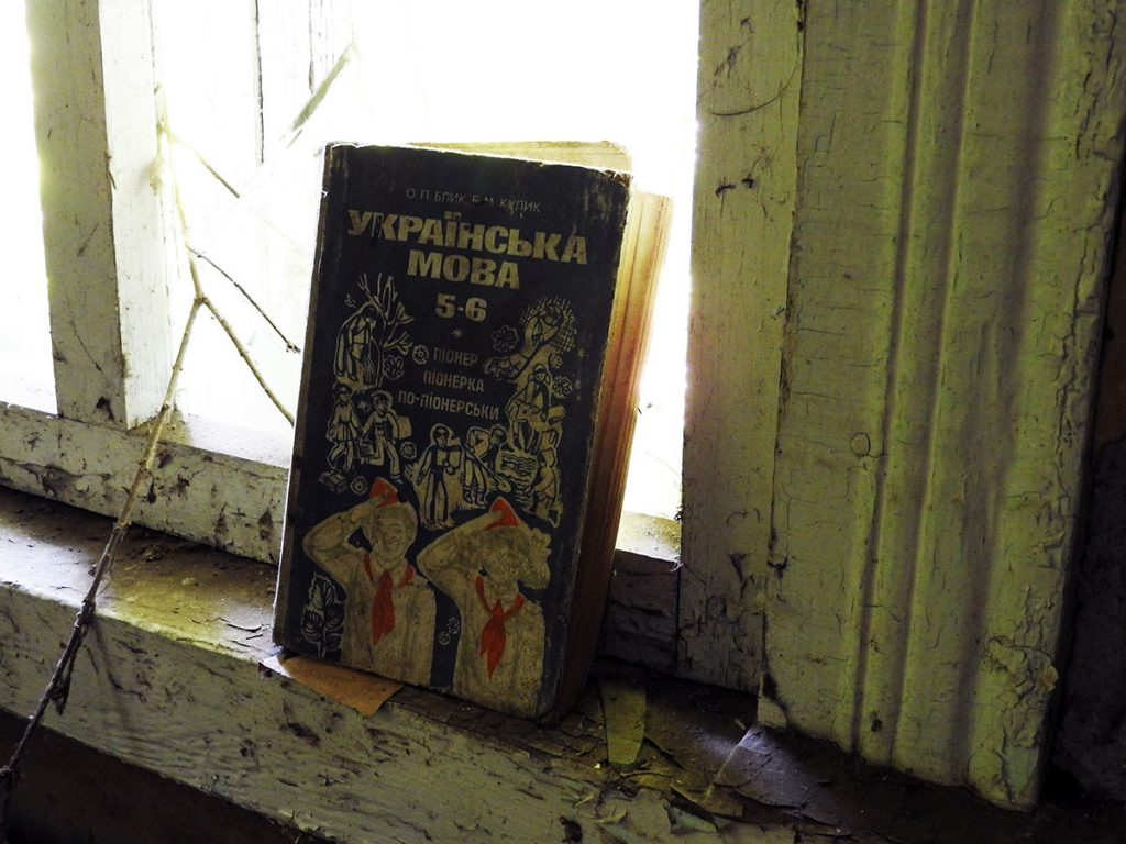 Old School Books in Zalesye, Chernobyl