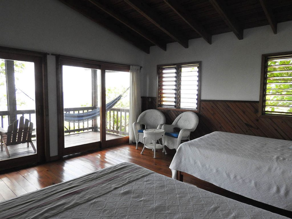 Sitting Areas in Cocolobo Roatan Hotel Guestrooms