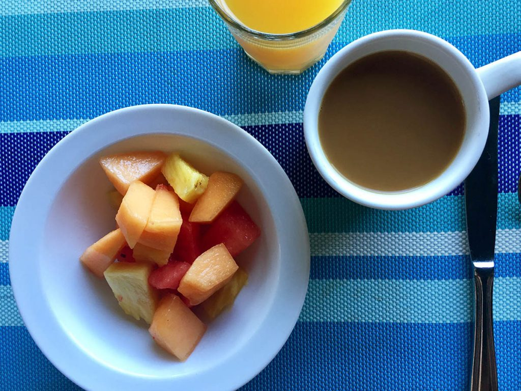 Fruit Salad Breakfast at Cocolobo Roatan
